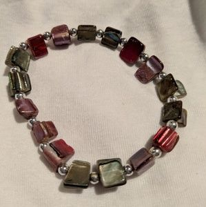 Jewelry - Multi color gem tones stretch bracelet